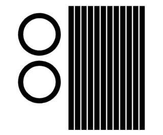 Circles & stripes Cornhole Game Decals BLACK