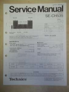 Technics Service/Repair Manual~SE CH535 Power Amplifier