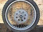1972 Honda SL 100 rear wheel rim w/ brake drum sprocket and axel