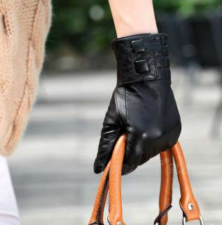 New WARMEN Womens GENUINE LAMBSKIN leather winter Warm gloves