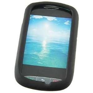 Black Silicone Skin Case For LG 800g: Cell Phones