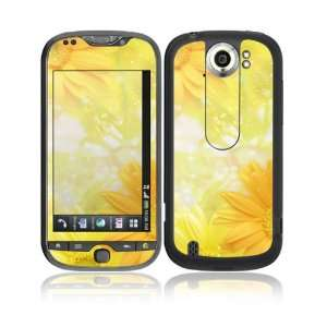 Yellow Flowers Decorative Skin Cover Decal Sticker for HTC