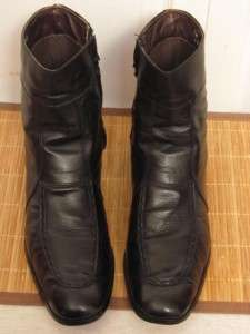 VINTAGE DEXTER MADE IN USA BLACK LEATHER ANKLE BOOTS MENS 13