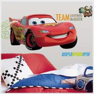 GIANT LIGHTNING MCQUEEN WALL DECAL Cars Movie Stickers 034878119267