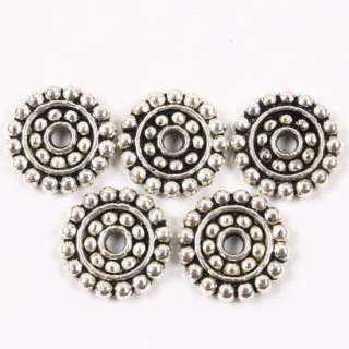 40PCS TIBETAN SILVER CIRCLE SHAPE SPACER BEAD FINDING