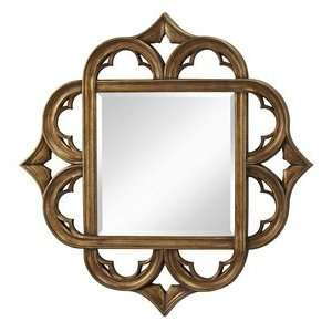 Feiss MR1133AGD Antique Gold Mirror Carolyn