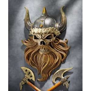 The Skull of Valhalla Viking Warrior Wall Statue: Home