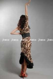 latin modern dance dress flamingo waltz tango big dance costume