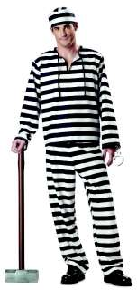 Jailbird Prisoner Convict Cell Adult Halloween Costume