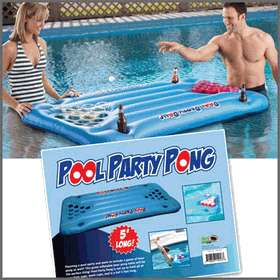Pool Party Inflatable Beer Pong Table Float, Perfect for Birthday