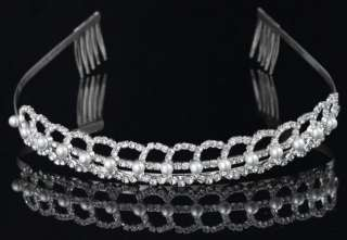WEDDING PHOTO JEWELRY CRYSTAL FAUX PEARL TIARAS HAIR BANDS COMB