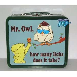 Mr. Owl Tootsie Roll Metal Tin Lunch Box [Collectible