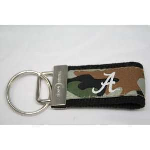 Alabama Crimson Tide Logo Camouflage Web Keychain: Sports