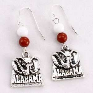 Alabama Crimson Tide Logo Earrings: Sports & Outdoors
