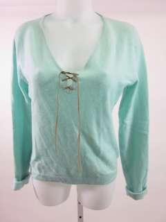THREE DOTS Seafoam Green Cashmere Sweater Top Size XL