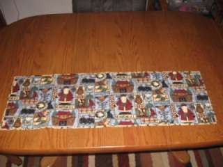 Handmade Table Runner Christmas Noahs Ark Country
