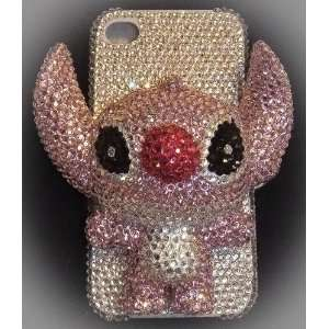 Nice Handmade Crystal 3D Stitch IPhone 4/4s Case + Screen