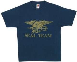 Seal Team Logo   Navy One Sided Military Logo T Shirt