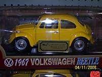 1967 VOLKSWAGEN BEETLE DIECAST 118 SCALE YELLOW |