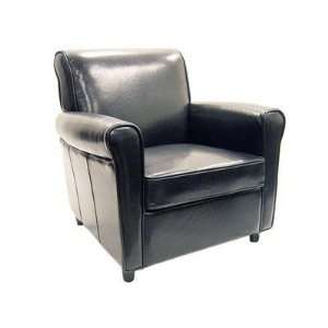 75 Black Full Leather Club Chair Interiors Furniture Full Leather Club
