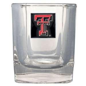 NCAA exas ech Red Raiders Square Rocks Glass Spors