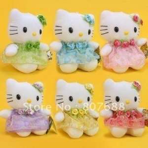 18cm cute hello kitty soft toy 3 colors mixed 24pcs/lot