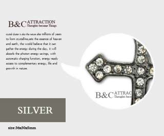Crystal Rhinestones Cross Bracelet Connector Charm Bead 1pcs 3 color