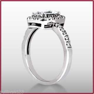 07 Ct. Emerald Cut Diamond Engagement Ring D SI1 EGL