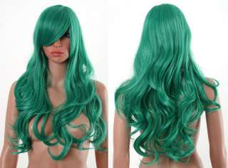 BLEACH Neliel Long Cosplay Wig Deep Green Curls Y9 80cm