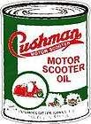 CUSHMAN MOTOR SCOOTER OIL VINYL STICKER (A1122) 6 INCH