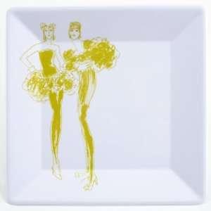 Melamine Fashion Plates, Gecko, 8 Inch Square