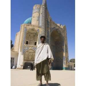 Man Standing in Front of Shrine of Khwaja Abu Nasr Parsa, Built in