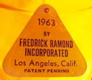 Vintage Fredrick Ramond Mid Century Modern hanging lamp shade 1963