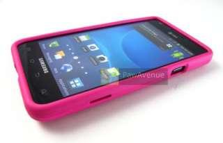 PINK Rubberized Hard Case Cover ATT Samsung Galaxy S II i777 Phone