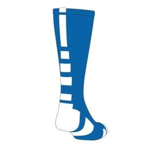 NEW TCK Elite Baseline Basketball Socks, Royal Blue/White, proDRI
