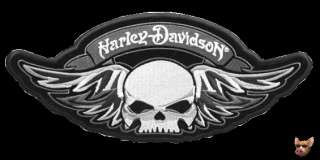 HARLEY WINGED GRAY SKULL DEATH SKULL PATCH **AWESOME**