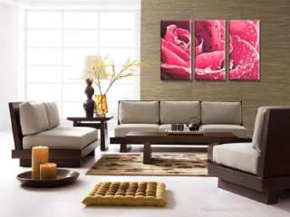 Modern, Stylish & Decorative Clock Wall Art Set Rose
