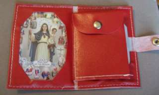 Lot 3 Rosary CASES Red Black Blue pouches for Rosaries