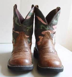 Cowboy Boots Justin Gypsy Ropers   Camoulfage Shafts   6 B