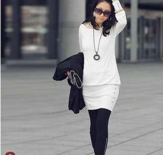 2011 Sexy Women Rond Neck Long Sleeve Party Clubwear Mini Dress 2