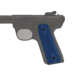 Hogue Ruger 22/45 RP Grip Checkered Aluminum Matte Blue