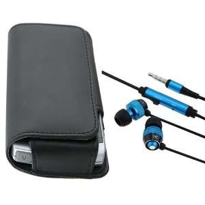 HTC myTouch 3G Slide Black Leather Case with 3.5mm In Ear