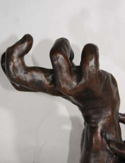 French Bronze Rodin Hand Sculpture Art