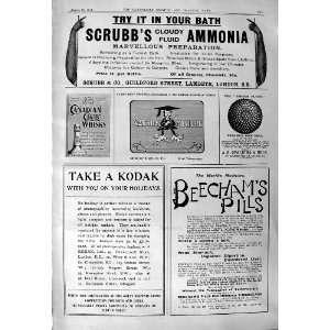 ScrubbS Ammonia Beechams Pills Kodak Canadian Whisky