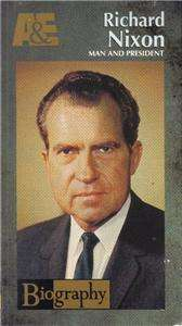 VHS A&E BIOGRAPHY RICHARD NIXON MAN AND PRESIDENT