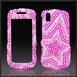 Pink Star Cristalina crystal bling case cover for