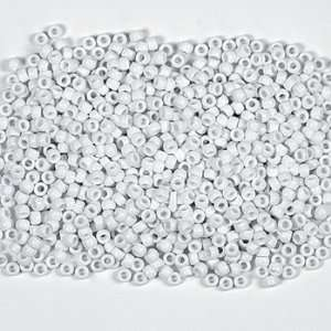 1/2 Lb Of White Pony Beads   Art & Craft Supplies & Kids