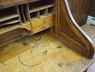 c1900 Roll Top Desk Swivel Chair Corbin Cabinet Lock Company Quarter