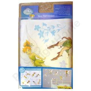 DISNEY FAIRIES 51 DECO WALL STICKERS NEW OFFICIAL