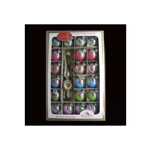 Pack of 126 Retro Bright Glass Ball Christmas Ornaments